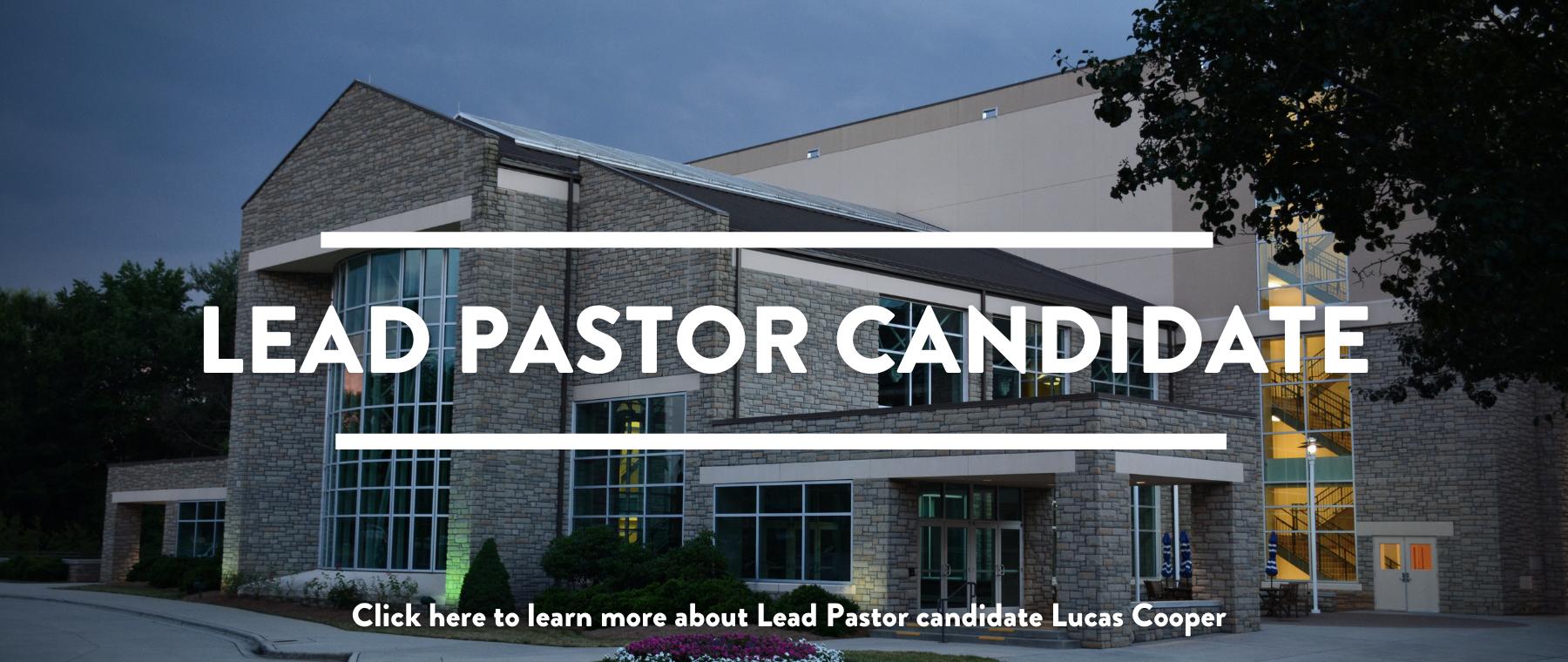 Lead Pastor Transition